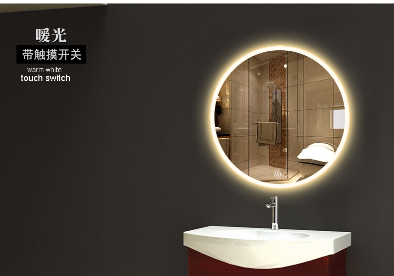 Bathroom Wall Sconce Round Dressing Room Led Mirror Light Bathroom Mirror Light Makeup Lamp Vanity Lighting Makeup Mirror Lamps 2