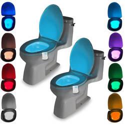 Санузел ванная комната движения чаша Туалет свет активированный вкл/выкл огни лампа с сенсором для сидения ночник сиденье свет