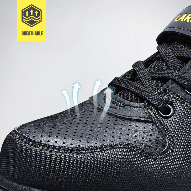 LARNMERN Men's Safety Shoes Steel Toe Working Safety Shoes For Men Breathable Outdoor Ankle Sneaker Footwear 3
