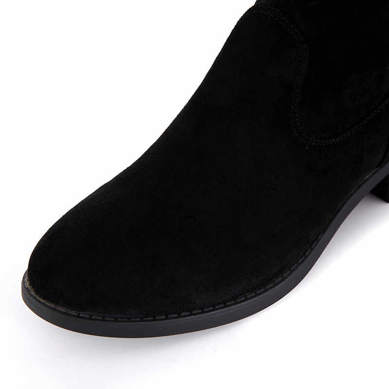 Xiuteng 2019 Yeni Akın Deri Kadın Diz Üzerinde Çizmeler Lace Up Seksi Yüksek Kaliteli Kadın Ayakkabı Lace Up Kış çizmeler Sıcak Tekneler