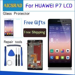 Image 1 - AICSRAD 5 אינץ 1920x1080 תצוגה עבור HUAWEI P7 LCD Ascend P7 מגע מסך Digitizer עצרת עם מסגרת