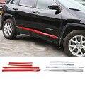 SHINEKA Auto Styling ABS Tür Seite Dekorative Streifen Abdeckung Trimmt für Cherokee 14-16