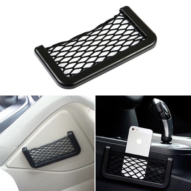 1x Car Seat Side Back Storage Elastic Mesh Net Bag For BMW m3 m5 e46 e39 e36 e90 e60 f30 e30 e34 f10 <font><b>e53</b></font> f20 e87 x3 <font><b>x5</b></font> image