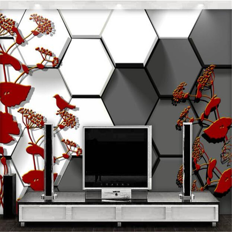 custom photo wallpaper 3D black and white chequered hand-painted flower bird bedroom living room TV background mural wallpaper book knowledge power channel creative 3d large mural wallpaper 3d bedroom living room tv backdrop painting wallpaper