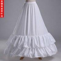 Q23 2Hoops 2Layers Petticoat Underskirt Wedding dresses Lotus Leaf bottom