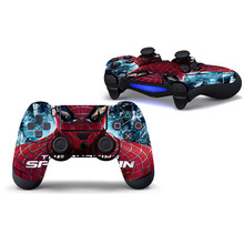 Spiderman Protective Cover Sticker For PS4 Controller Skin For Playstation 4 Decal Accessories
