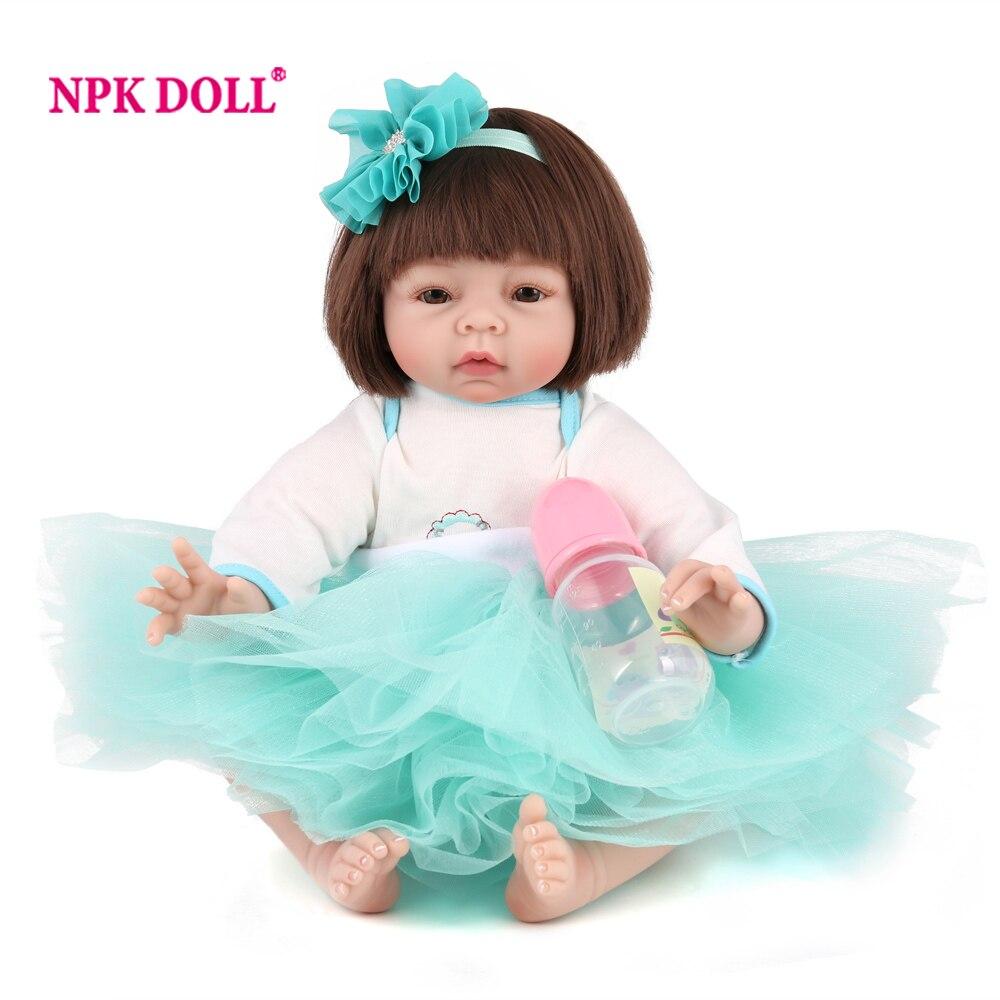 NPKDOLL Adorable Dolls Reborn 55 cm Silicone Reborn Dolls Lifelike BeBe Dolls For Girls Doll Baby Real Toys For COLLECTION Gift цены