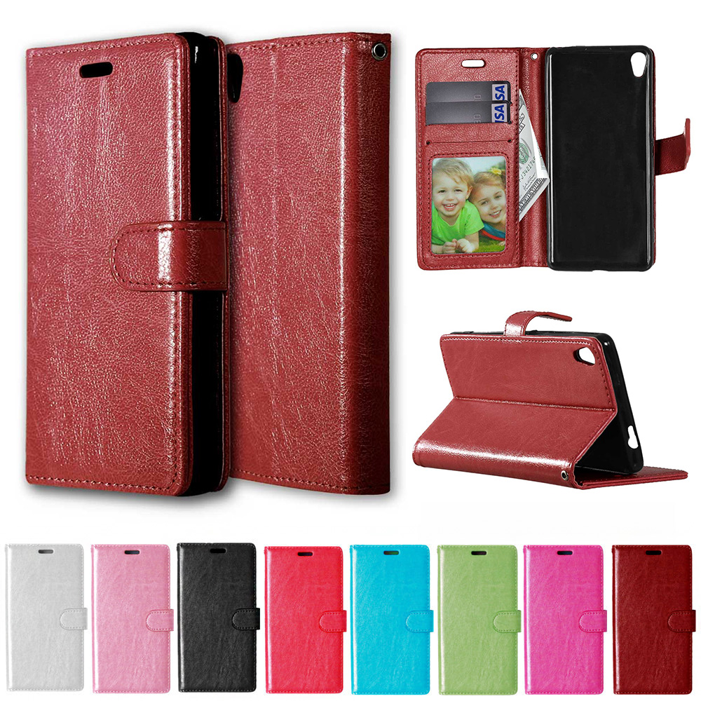 """Leather Case for Sony Xperia XA X A F3111 F3113 F3115 F3112 Dual 5.0"""" Flip Phone Leather Cover XperiaXA F 3111 3112 3113 3115"""