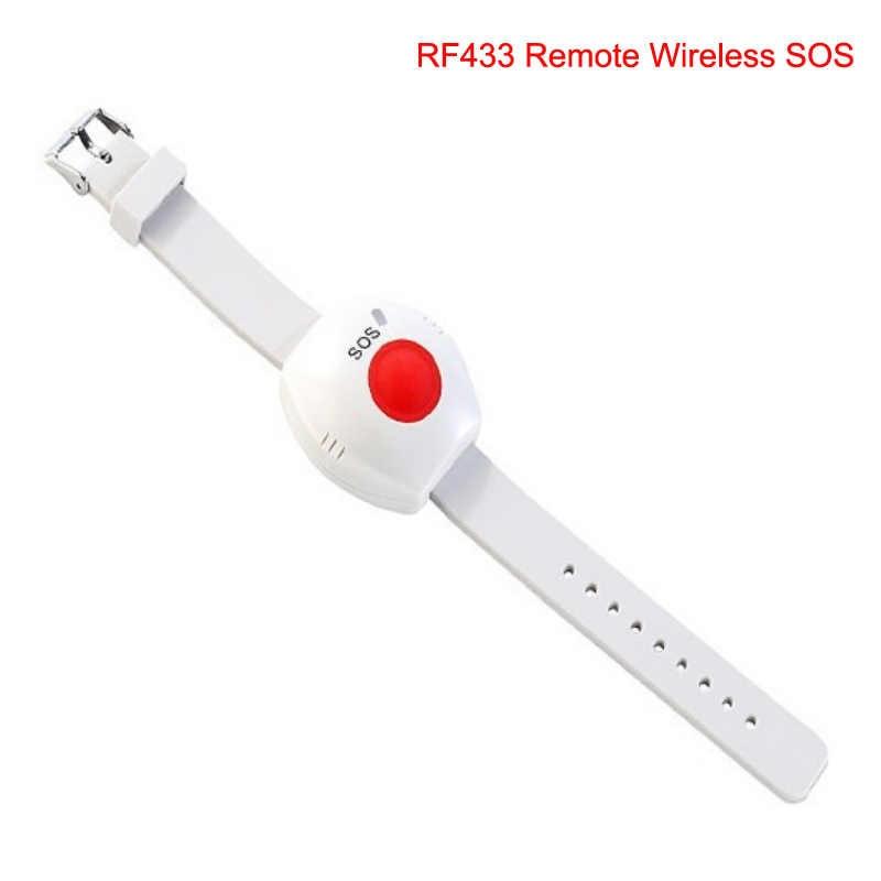 SmartYIBA SMS llamada ancianos cuidado hogar GSM sistema de alarma SOS llamada LCD Detector de temperatura con Kit de alarma de botón de emergencia médica