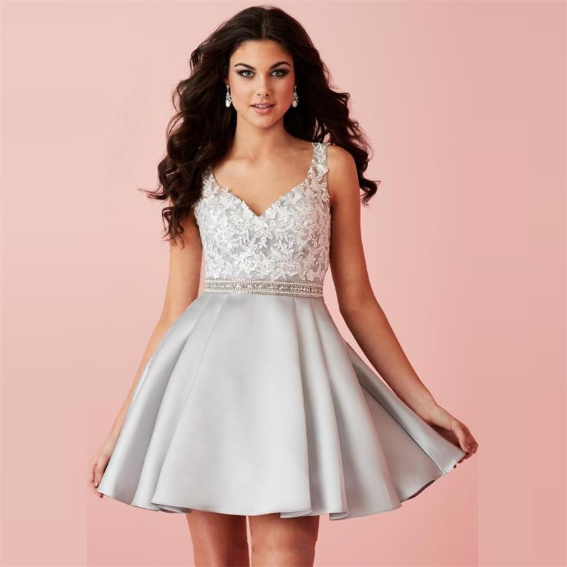 Popular Silver Homecoming Dress-Buy Cheap Silver Homecoming Dress ...