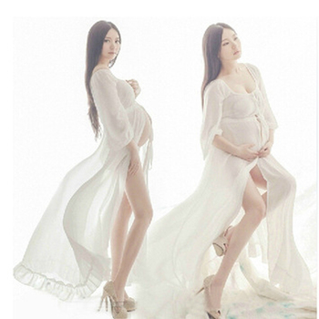 Maternity Dresses for Photo Shoot Women Dress Fashion Maternity Photography Props Maternity Dresses long Chiffon Dress Q112
