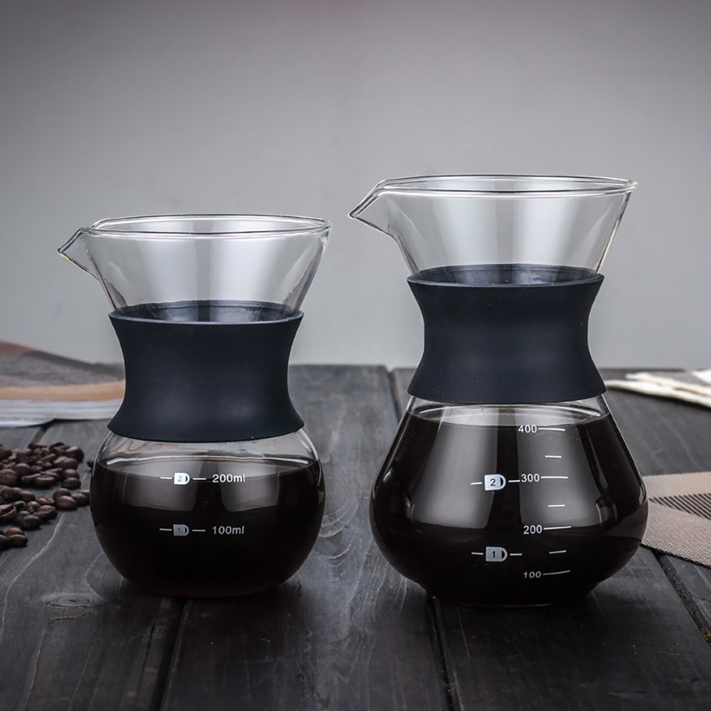 Glass Hand Punching Coffee Pot Temperature Resistance Glass Anti-scalding Share Glass Coffee Pot Filter Accessories