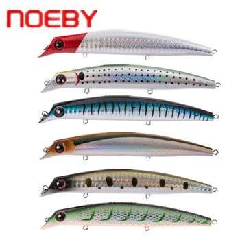 Noeby Popper cebo 120mm/16g 150mm/24g señuelo de Pesca flotante VMC ganchos Leurre Peche cebos artificiales Pesca japonesa Rock Minnow
