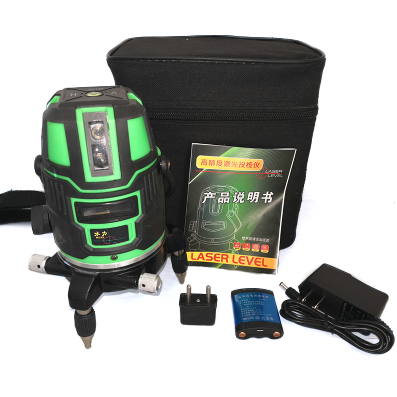 Green light 5 line laser level super light outdoor indoor 5 line 6 automatic level aladdin level 5