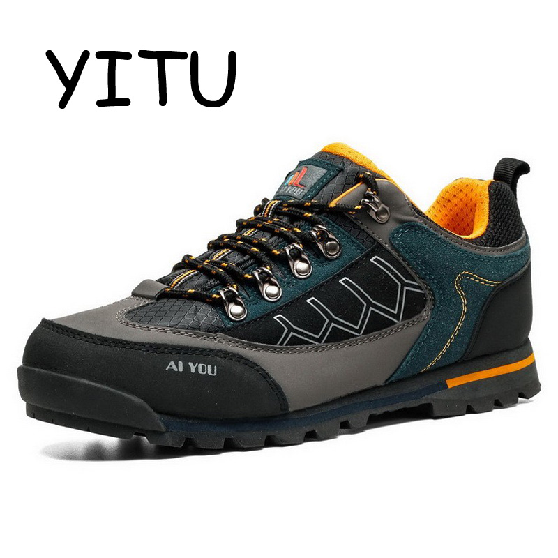 YITU 2019 Outdoor Mens Hiking Shoes Breathable Trekking Hiking Shoes Mountain Climbing Hunting Boots Sport Sneakers