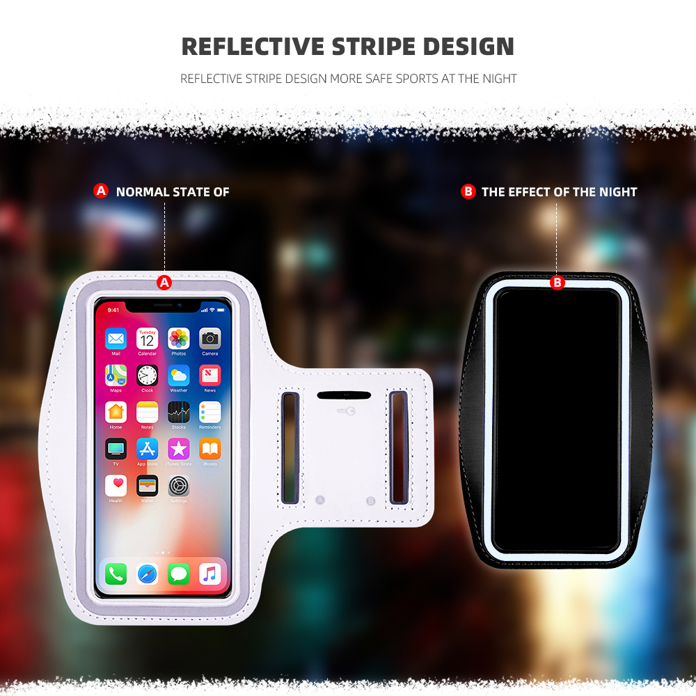Sport running Arm Band phone for iphone x xs max xr 8 7 plus Sports arm bag Men Women Be applicable outdoor Cycling Workout Case