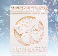Silicone Butterfly Flying Rounded Flower Pattern Mold Square Hand Made Soap Making silicone