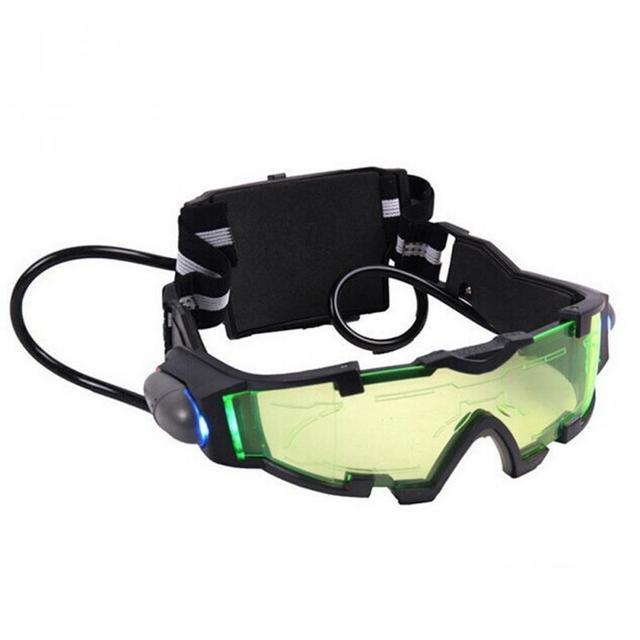 ffa06bcb9d1 Nuit vision lunettes verre simulation hd enfants protection lunettes Vert  Objectif Réglable Bande Élastique