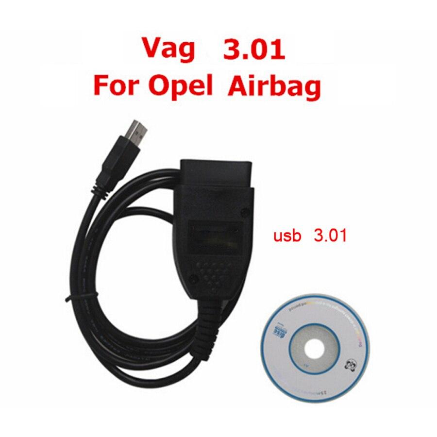 Prix pour 2016 Vag tacho 3.01 + pour Opel Immo Airbag Scanner OBD/OBD2 Pour Opel Lecteur de Code pour VW diagnostic outils