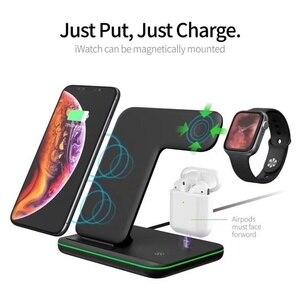 Image 2 - Cargador inalámbrico rápido Tongdaytech 3 en 1 Qi para Apple Watch 5 4 3 2 1 estación de carga rápida para Iphone 8 Pus XS 11 Pro MAX