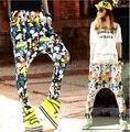 Trendy Women's  Casual Hip-Hop Low Crotch Harem Baggy Pants Sweatpants Dance Trousers