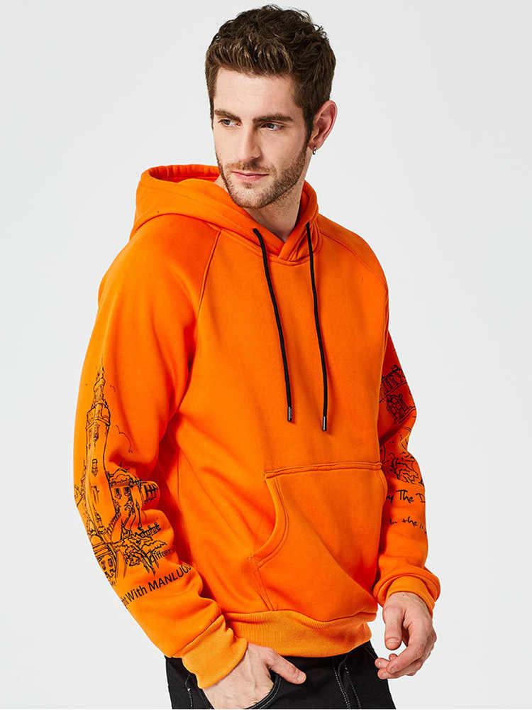 2019 Kapşonlu Gömlek Kazak Marka erkek Casual Hoodie Ceket Hip Hop Başörtüsü Baskı Moda Hoodies Kalınlaşmış Erkekler Hoodies