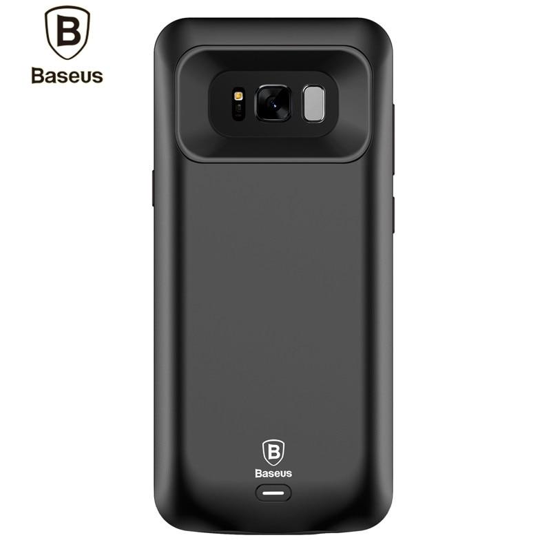 imágenes para De Baseus Caso Del Cargador de Batería Para Samsung Galaxy S8/S8 Más 5000 mAh/5500 mAh Banco de Energía de Respaldo Portátil Caso Powerbank externo