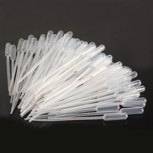 SOSW-100PCS Graduated Pipettes Dropper Polyethylene (0.5ml)