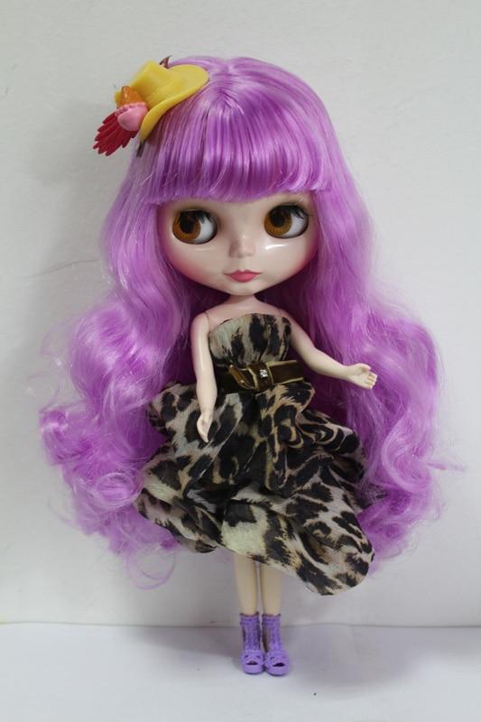 Free Shipping big discount RBL-144DIY Nude Blyth doll birthday gift for girl 4colour big eyes dolls with beautiful Hair cute toy