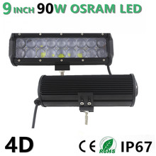 9″ inch 90W  Led Light Bar  Combo Beam for SUV ATV UTV 4WD 4X4 Offroad Wagon Led Light Bar Fog Lamp headlight 12V 24V