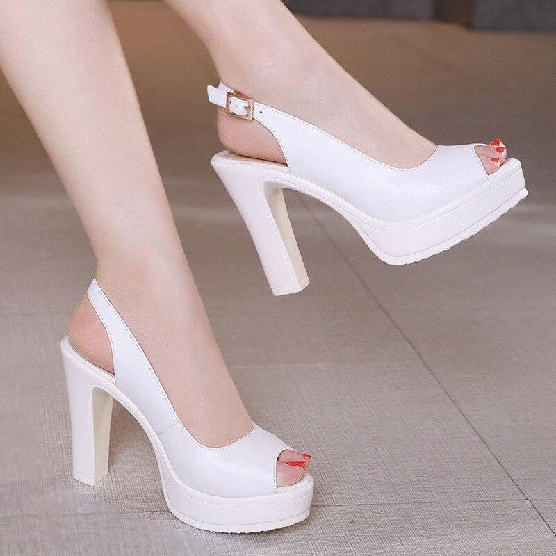 Pompes Sexy Heels Toe De Chaussures Lady Peep Haute 43 Mode Partie High white Taille Dames 2018 Mariage Mariée Stilettos Black Talons Bureau Plus Ariari Heels Femmes rCxtQBsdho