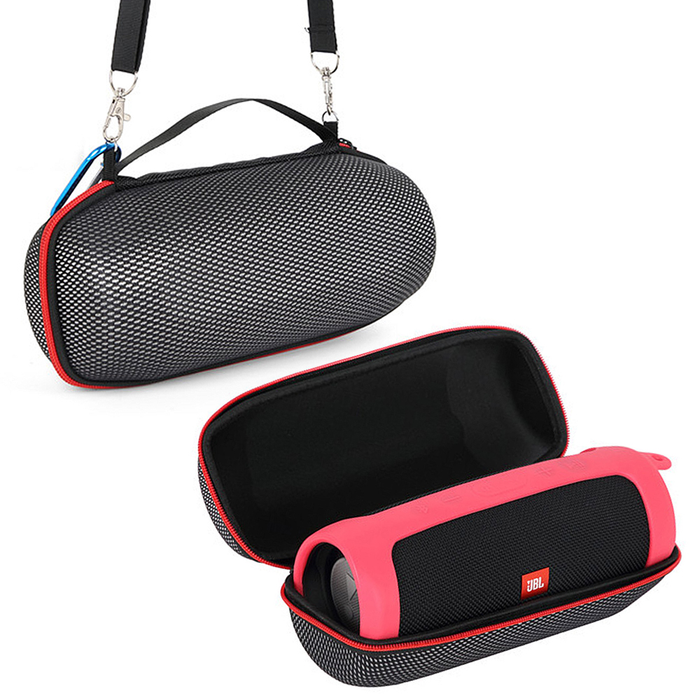 2 in 1 <font><b>EVA</b></font> Hard Carry Storage Portable Bag + Soft Silicone Cover For <font><b>JBL</b></font> <font><b>Charge</b></font> <font><b>4</b></font> Bluetooth <font><b>Speaker</b></font> Cases for <font><b>JBL</b></font> <font><b>Charge</b></font> <font><b>4</b></font> Box image