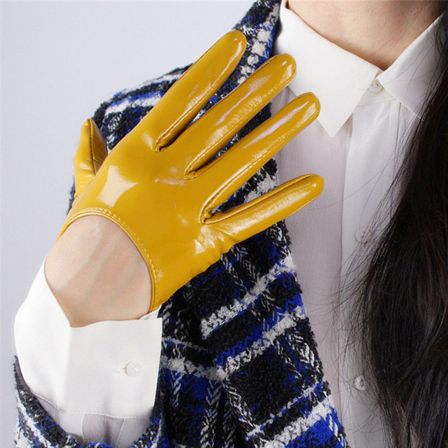 Women Patent Leather Gloves...