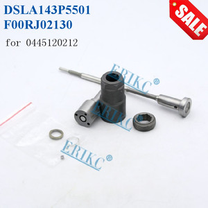 ERIKC 0445120212 Fuel Injector Nozzle DSLA143P5501 Control Valve F00RJ02130 Nut F00RJ00841 Spare Repair Kit CR for CUMMINS