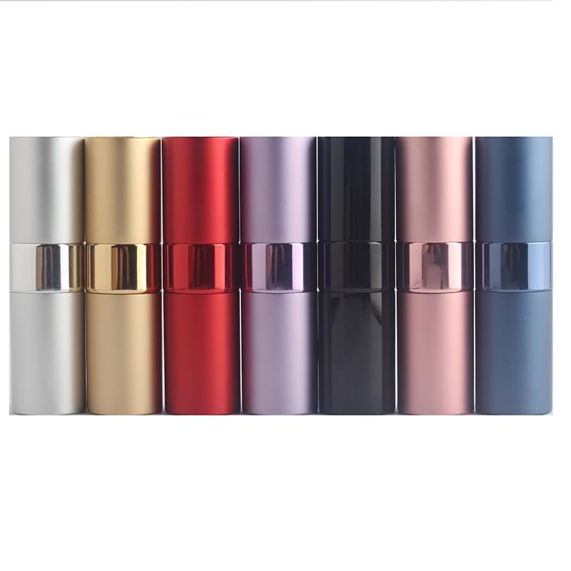 15ml Mini Portable Perfume Bottle Travel Aluminum Perfume Atomization Bottle Personal Care Glass Perfume Atomizer 1pcs Free Ship
