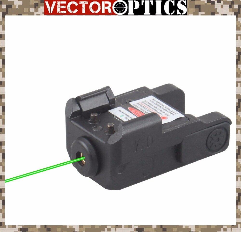 Vector Optics Blitz Pistolet Arme de Poing Mini Laser Vert Vue 29mm 1.1 pouce Fit GLOCK Springfield Smith & Wesson Compact pistolet