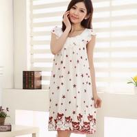 أزياء الصيف نمط النساء النوم القطن مثير sleepshirt النوم ثوب النوم ملابس للسيدات نساء المنزل الإناث