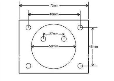 DH670 Аналоговый Вольт Напряжение вольтметр Панель Измеритель постоянного тока(0-100 В