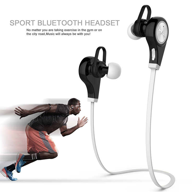 Q9 Wireless Bluetooth Headset 4.1 Stereo Earphone With Mic Sport earphones for iPhone7 for Samsung galaxy s7 xiaomi Smartphone