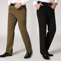 Men S Casual Dress Pants Middle Aged Autumn And Winter Men Suit Trousers High Waist Straight