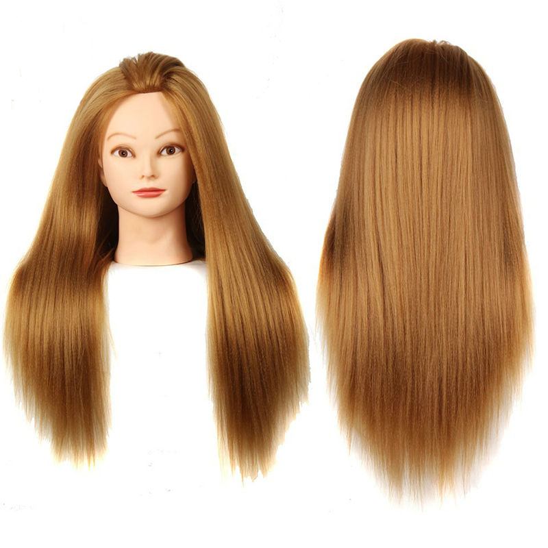 real hair styling big wig mannequins hairdressing doll dummy 4807