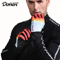 DONEN Cycling Gloves Full Finger Sport Shockproof MTB Bike Touch Screen Gloves Man Woman Bicycle Sponge Long Finger Glove