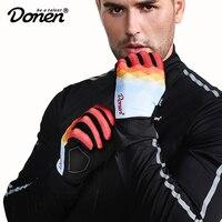 DONEN Cycling Gloves Full Finger Sport Shockproof MTB Bike Touch Screen Gloves Man Woman Bicycle Sponge Long Finger Glove