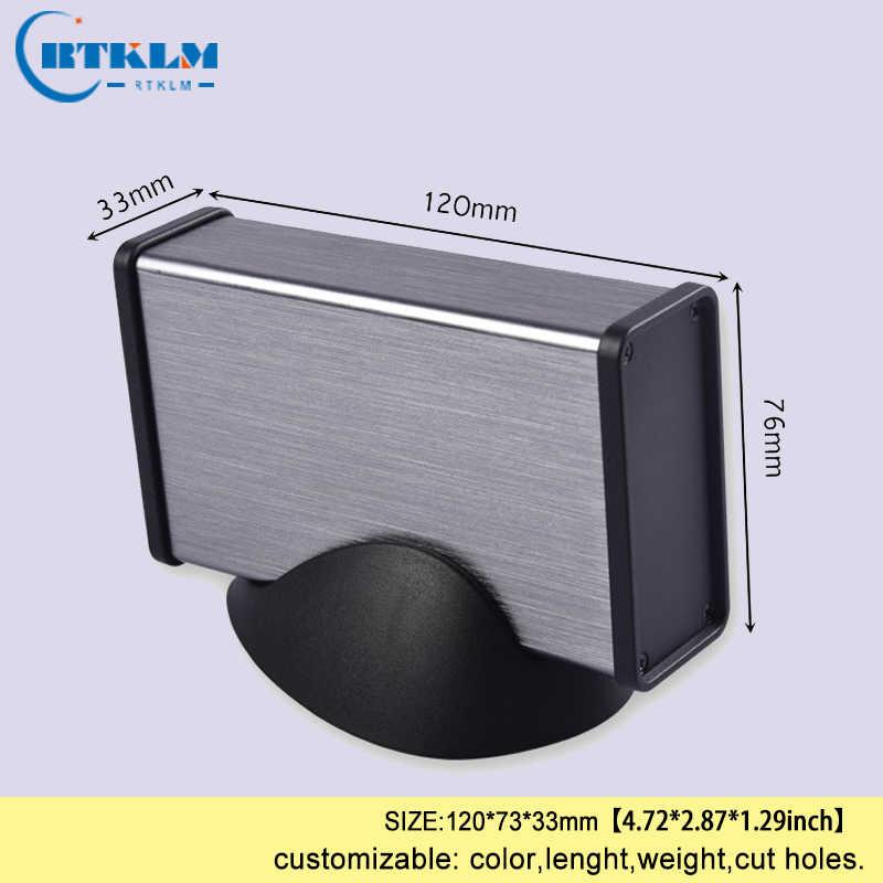Aluminium Proyek Box Aluminium Kandang Junction Box DIY Amplifier Kandang Power Supply Instrumen Case 120*73*33 Mm