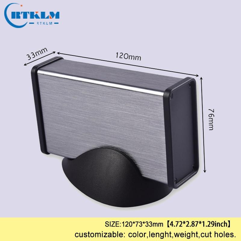 Aluminium project box aluminium enclosure junction box DIY amplifier enclosure power supply instrument case 120*73*33mm Wire Junction Boxes    - title=