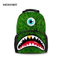 INSTANTARTS Preppy Style Women Felt Backpacks Funny Emoji Prints Bagpack for Teenage Girls Children Backpacks Student School Bag