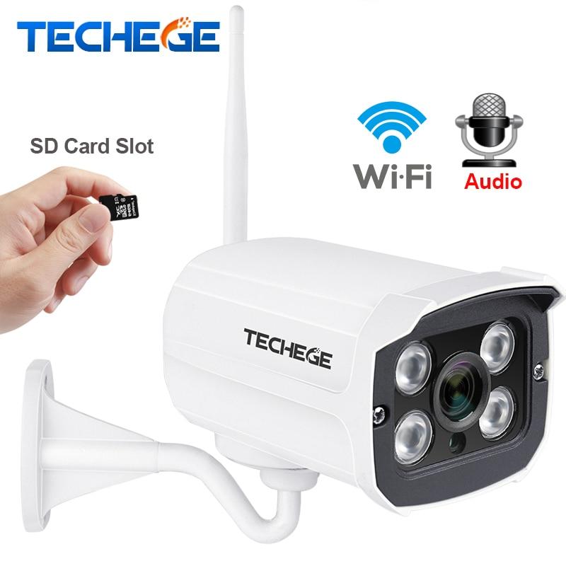 Techege MINI 1280*720 P WIFI Caméra IP Audio Étanche HD Réseau 1.0MP wifi caméra nignt vision Extérieure sans fil caméra Yoosee