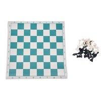 Travel Portable 50 5 50 5cm Standard Game Plastic Chess Set Foldable Board