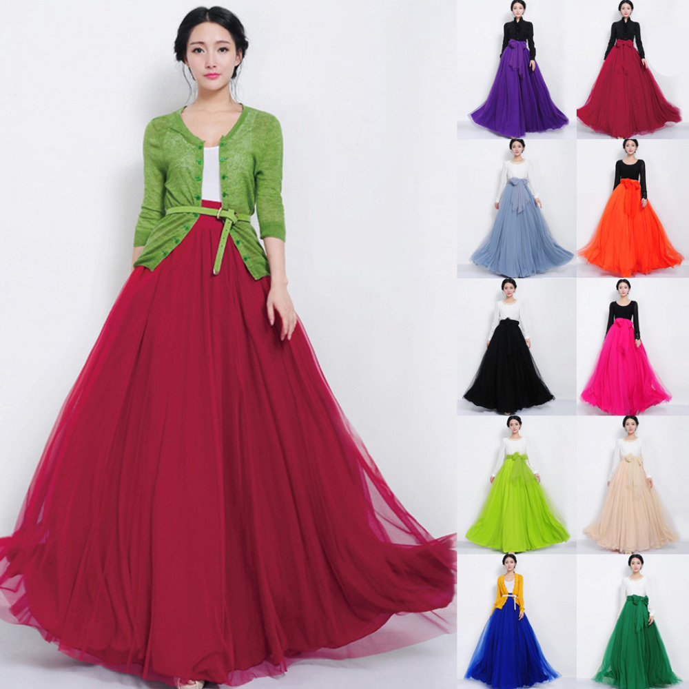 Popular Long Sheer Skirt-Buy Cheap Long Sheer Skirt lots from ...