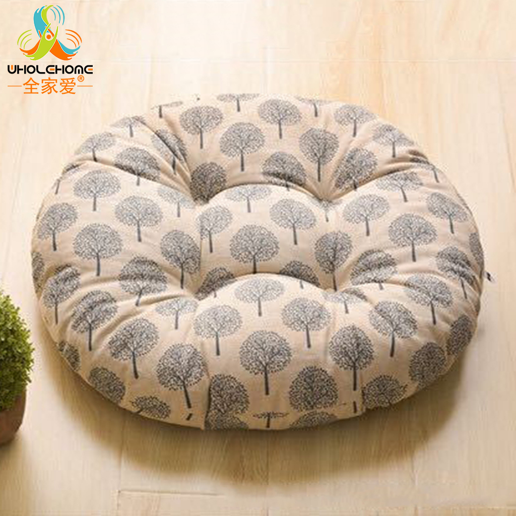 Cane chairs with cushions - Super Soft Creative Thicken Pillow Tatami Round Cushion Large Student Office Nap Rattan Chair Futon 1 Pcs Lot 40 40cm 50 50cm